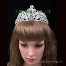 Corona caliente de la venta de la tiara grande del Rhinestone