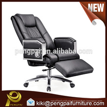 Long high back comfortable black office chair