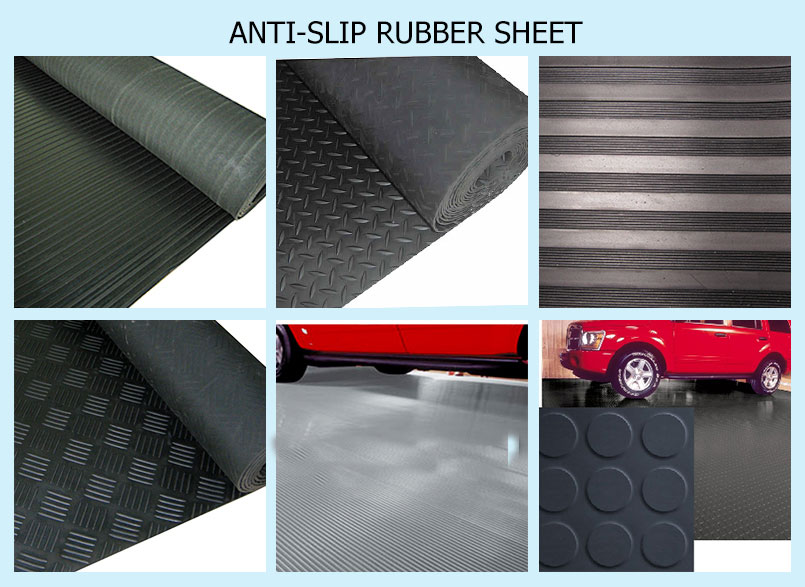 anti slip rubber sheet
