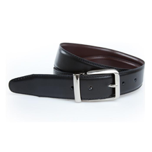 Reversible buckles leather belt golf gift belt