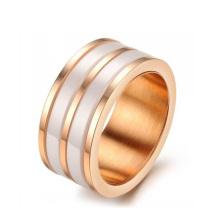 хай-тек Керамическая мода из нержавеющей стали обручальные кольца