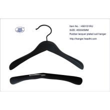 Großhandel aus Holz schwarzen Anzug Hanger hoch Gummiqualität