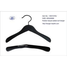 Wholesale Wooden Rubber Black Suit Hanger High Quality