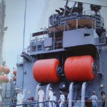 Заполнение пеной Обвайзер использован для защиты пирса и корабль пристыкован