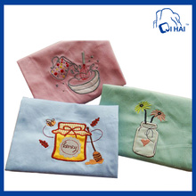 100% Cotton Yarn Embroidered Kitchen Towel (QHC8895)
