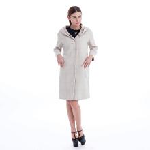 Plaid long double-sided woolen coat