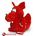 Meet EN71 and ASTM standard ICTI plush toy factory plush plush toy red dragon