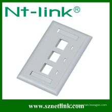 120 estilo 3 porta face placa cat5e keystone jack