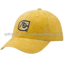 Chapeau de baseball en coton brodé à base de pigment lavé (TMB35)