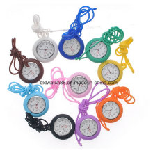 Collar de enfermera promocional reloj colgante silicona
