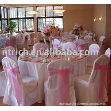 100%polyester chair cover,Hotel/Banquet chair cover, Organza sash