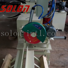 Single head wood pallet block machine