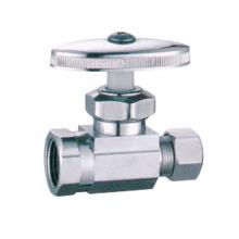 China fabrica J7009 cromado válvula de ángulo de dos vías de válvula de ángulo para el cuarto de baño