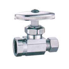 China manufactures J7009 chrome plated angle valve two-way angle valve for bathroom
