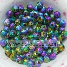 Chunky 6mm Plastic Round Smooth Imitation Swarovski Beads
