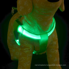 Silk-screen led light up dog harness / security dog harness