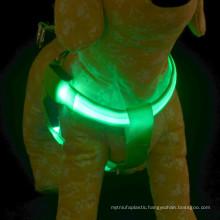 Silk-screen led light up dog harness / security dog harness