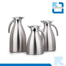 Olla de café de vacío de acero inoxidable de alta calidad y caldera con tapa de giro de aleación de zinc