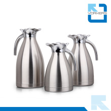 Cafetière et bouilloire à café en acier inoxydable de haute qualité avec couvercle pivotant en alliage de zinc