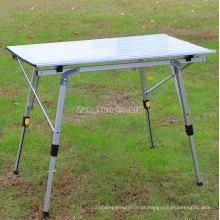 Tabela de dobradura ao ar livre, tabela de piquenique portátil da liga de alumínio