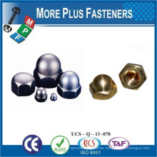 Made in Taiwan Stainless Steel Brass Aluminium Silicone Bronze Decorative Connecting Cap Nut