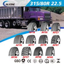 Neumáticos de camiones radiales de acero (11r22.5 13r22.5 315 / 80r22.5) con ECE Etiquetado DOT Reach