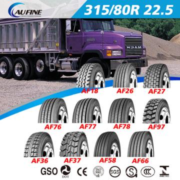 Pneus de caminhão de aço radial (11r22.5 13r22.5 315 / 80r22.5) com ECE Rotulagem DOT Reach