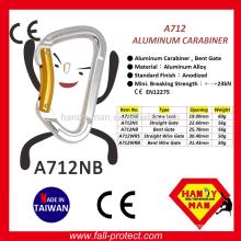 CE Certificate 23KN AluminumRock Climbing Carabiner Made in Taiwan