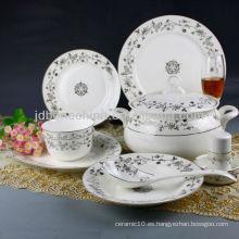 Taza y platillo alemanes del té del café de China de la multa del estilo alemán