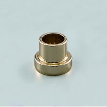 Collier de bouteille diffuseur en or rose à nervures roulantes en aluminium