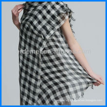 Popular Linen Grid Scarf Manufacturer