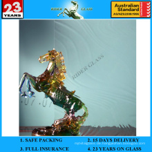 3-8mm klares barockes gemustertes Glas mit AS / NZS2208: 1996