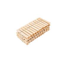 Alta calidad barato 36PCS bambú primavera fuerte madera pinzas / clavijas de ropa