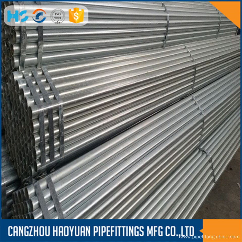 ASTM A53 Cold Galvanized ERW Steel Pipe