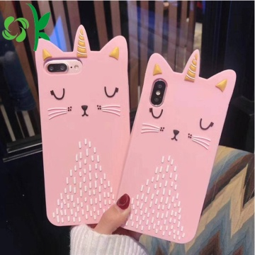 Funda para teléfono Crown Golden Cat Funda de silicona Unicornio
