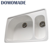 Custom design high hardness double bowl with drainboard lavabo kitchen granite bowl lab sink