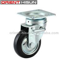 Novo freio lado roda do rodízio de giro de borracha elástica 6 com freio