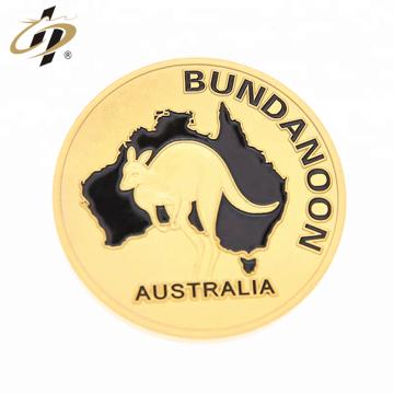 Lembrança turística personalizado fosco ouro moeda de metal 3d