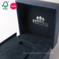 Fait sur commande dans la boîte en cuir d'emballage de cadeau de papier de cuir d'unité centrale de la Chine