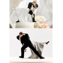 Высокое качество романтический погружения танцы невеста и жених пару фигурка для торта Топпер