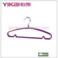 Цветная металлическая вешалка для одежды из ПВХ с покрытием из стирки, сделанная в Китае