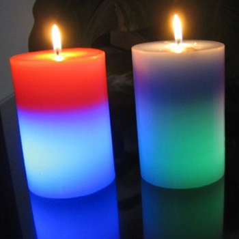 colorful real flame LED candle