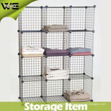 DIY 12 Cube Wire Shelf Simple Modular Metal Storage Rack