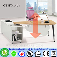 CTHT-1404 bamboo table top manual screw height adjustable desks height adjustable laptop table computer furniture