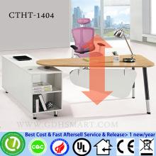 CTHT-1404 mesa de bambu top altura do parafuso manual mesas reguláveis altura ajustável mesa laptop computador mobiliário