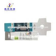 Caixa de papel personalizada do cartão da janela plástica com aba de suspensão
