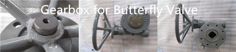 Gearbox for butterfly valve