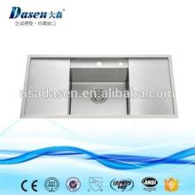 DS10050B venta caliente real de acero inoxidable undermount fabricantes de fregaderos de cocina hechos a mano
