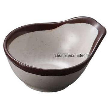 "100% Melamine Dinnerware- ""Thousands of Mountains""Melamine Round Bowl with Handle /Melamine Bowl (CS1423)"