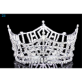 """3"""" Tall Pageant Tiara Crown - Silver Plated Rhinestone Crystal"""
